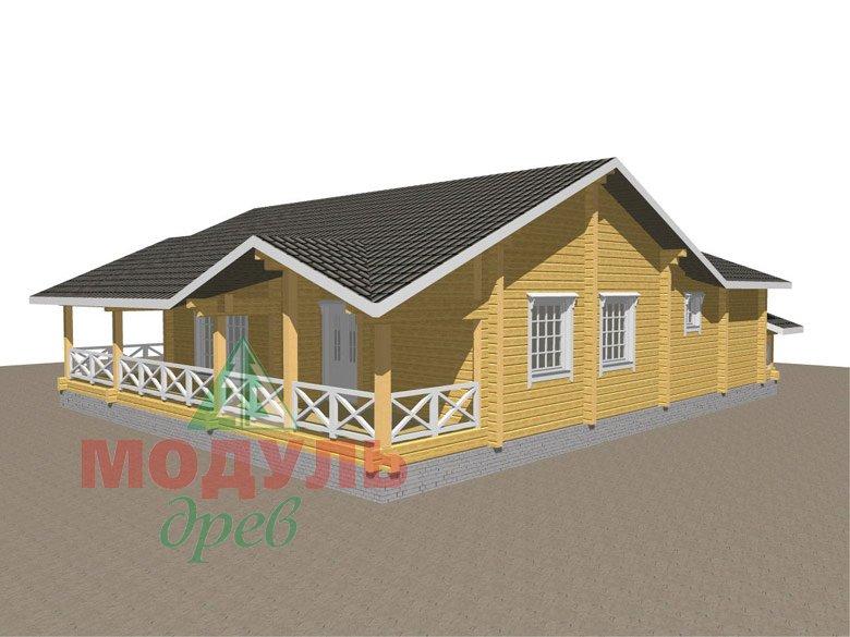 Одноэтажный дом из бруса «Дмитров» - макет 5