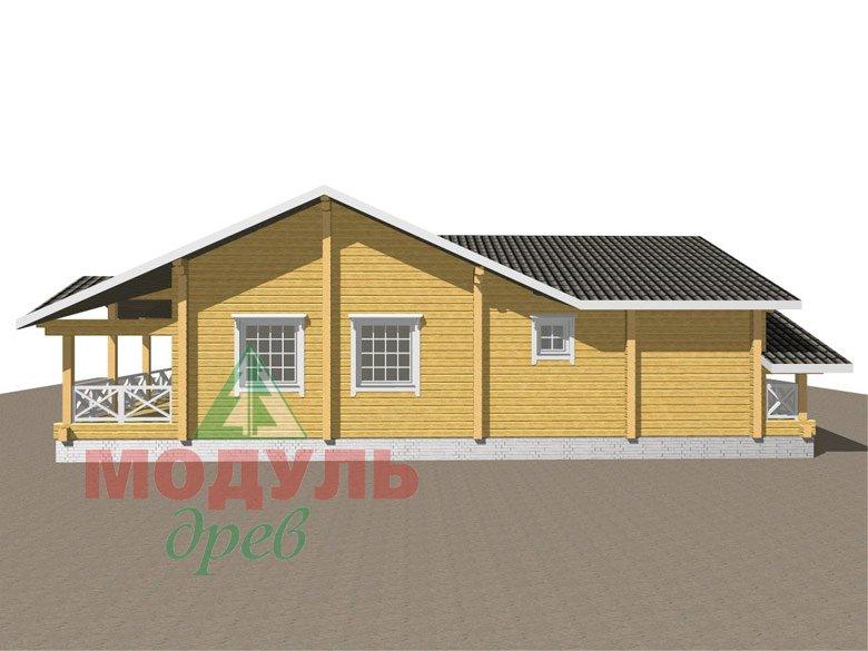 Одноэтажный дом из бруса «Дмитров» - макет 6