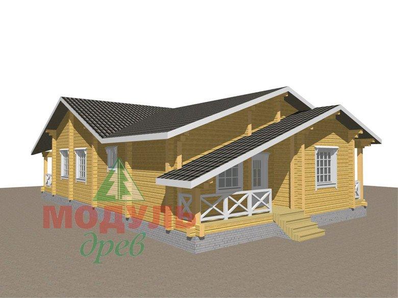 Одноэтажный дом из бруса «Дмитров» - макет 7