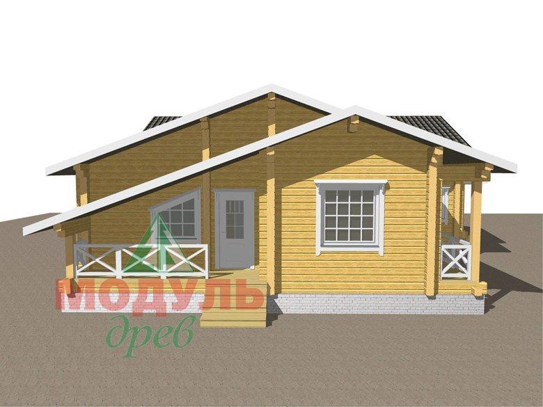 Одноэтажный дом из бруса «Дмитров» - макет 8