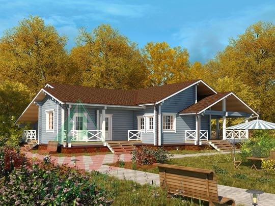 Проект одноэтажного дома из бруса «Дмитров»