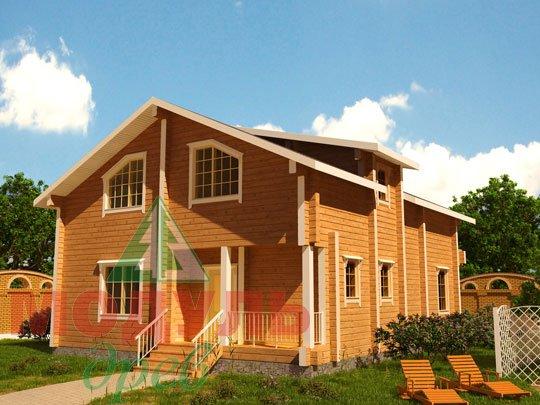 Проект дома из бруса «Дубна»