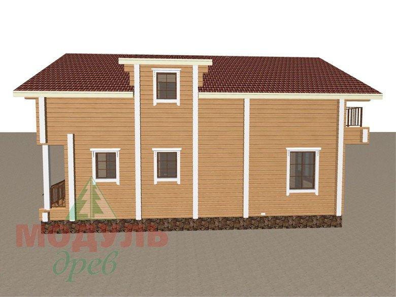 Дом из бруса «Дубна» - макет 3