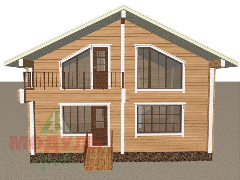 Дом из бруса «Дубна» - макет 5