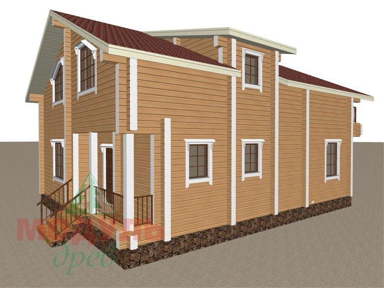 Дом из бруса «Дубна» - макет 2