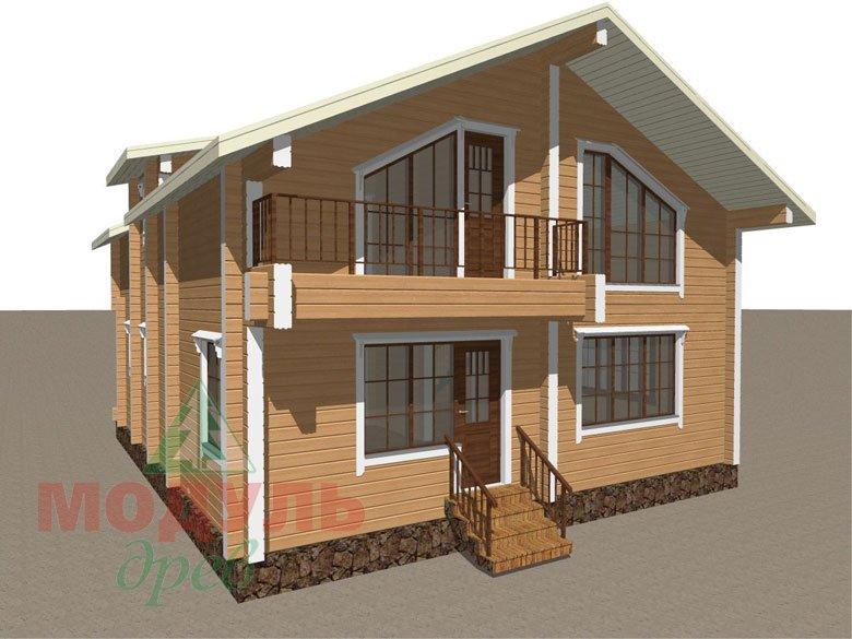 Дом из бруса «Дубна» - макет 4