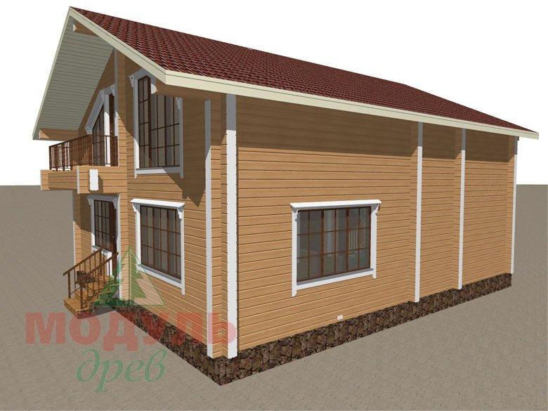 Дом из бруса «Дубна» - макет 6