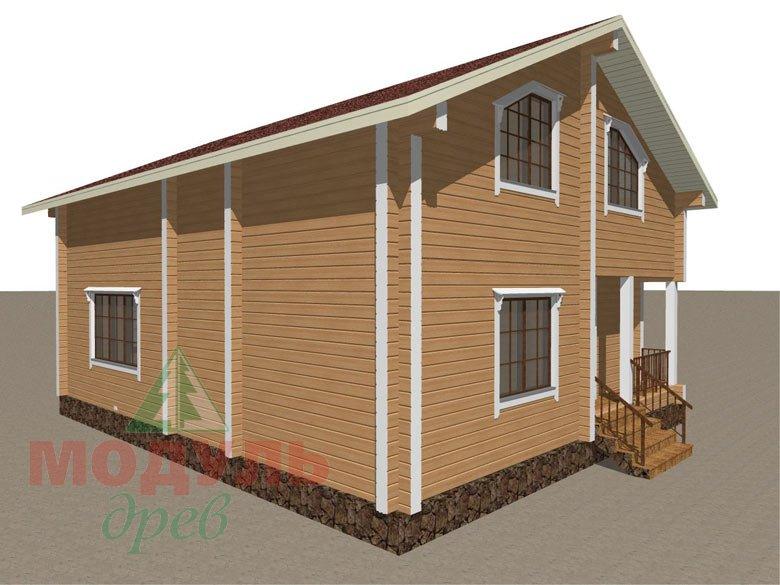 Дом из бруса «Дубна» - макет 8