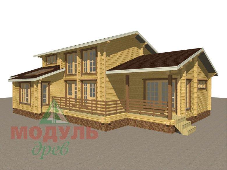 Проект дома из бруса «Ейск» - макет 1