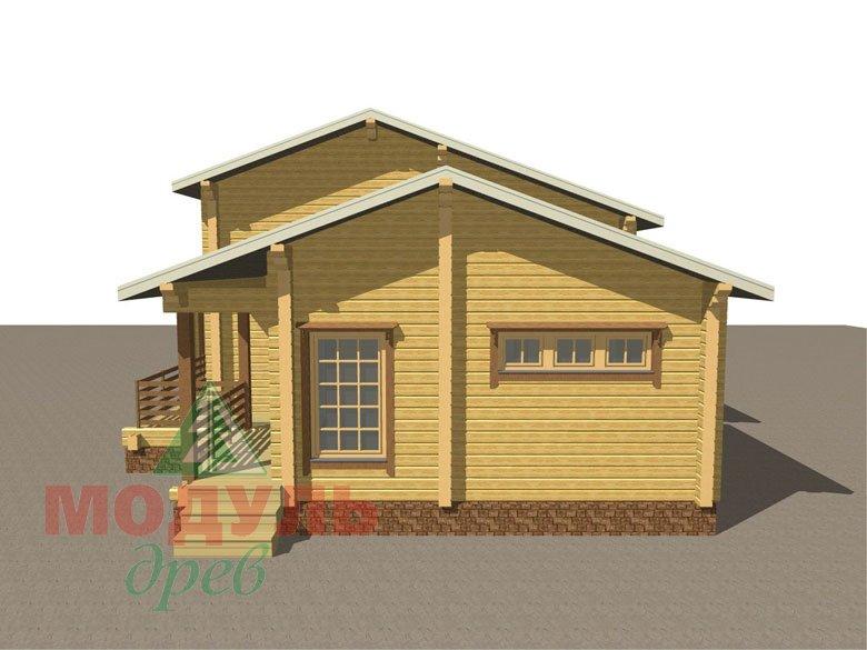 Проект дома из бруса «Ейск» - макет 2