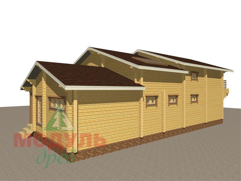 Проект дома из бруса «Ейск» - макет 3