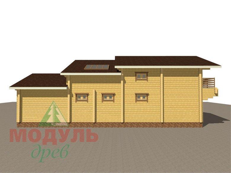 Проект дома из бруса «Ейск» - макет 4