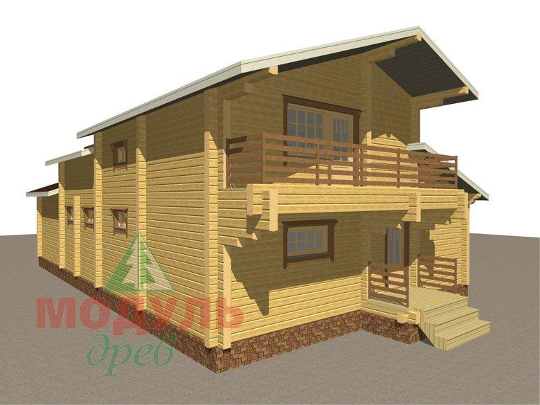 Проект дома из бруса «Ейск» - макет 5