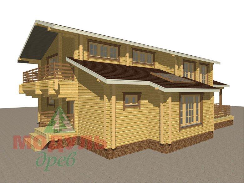 Проект дома из бруса «Ейск» - макет 6