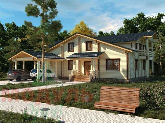 Проект дома из бруса «Екатеринбург»