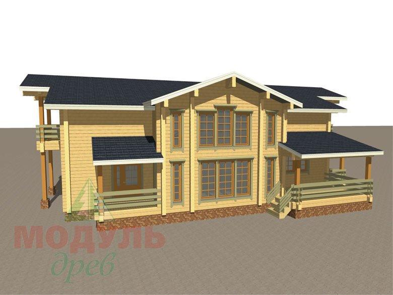 Проект дома из бруса «Екатеринбург» - макет 1