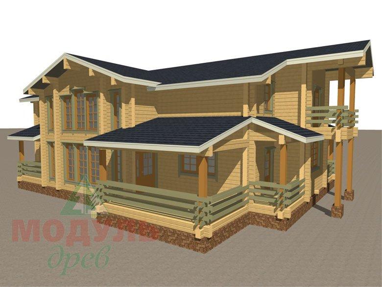 Проект загородного дома «Екатеринбург» - макет 2