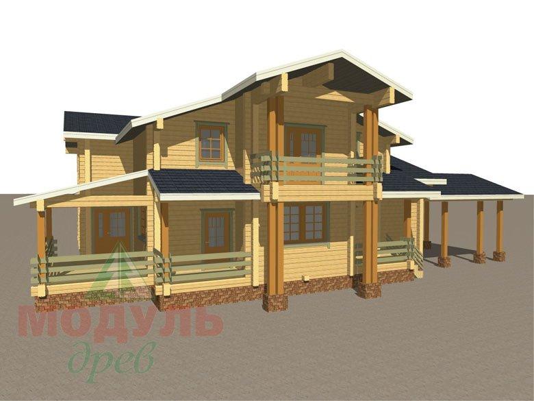 Проект просторного дома «Екатеринбург» - макет 3