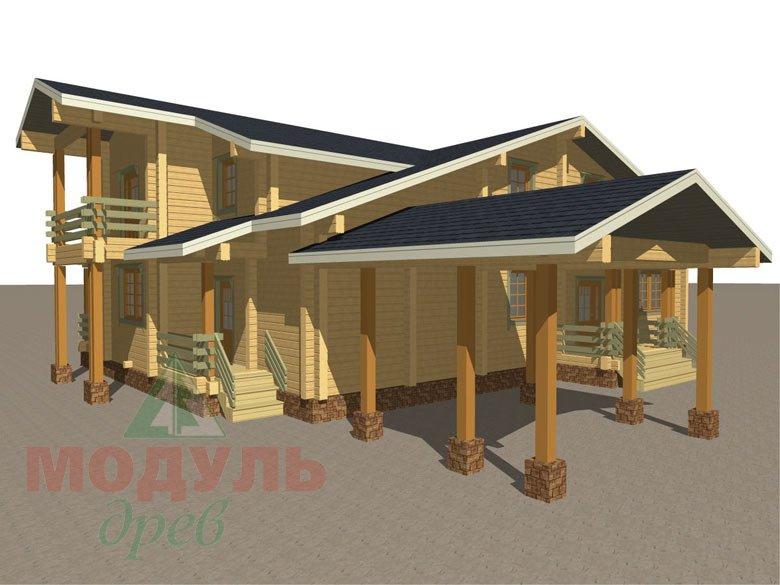 Проект дома из бруса «Екатеринбург» - макет 4