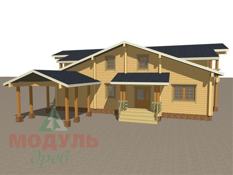 Проект дома из бруса «Екатеринбург» - макет 5