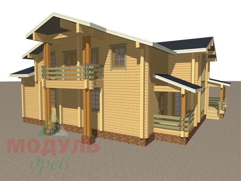 Проект дома из бруса «Екатеринбург» - макет 7