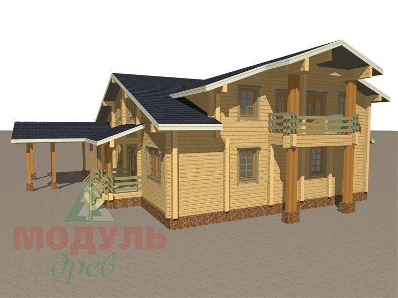Проект дома из бруса «Екатеринбург» - макет 6