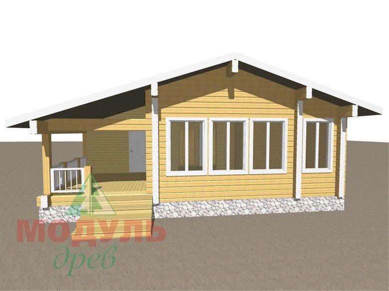 Проект дома из бруса «Елец»