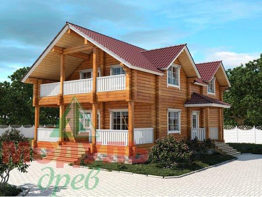 Проект дома из бруса «Енисей»