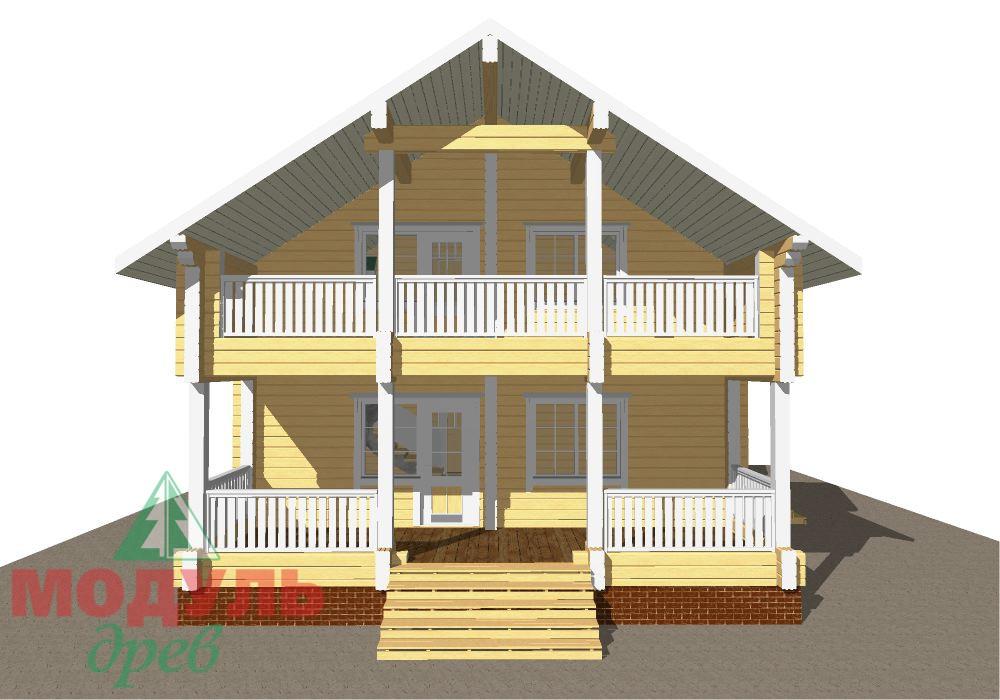 Проект дома из бруса «Енисей» - макет 1