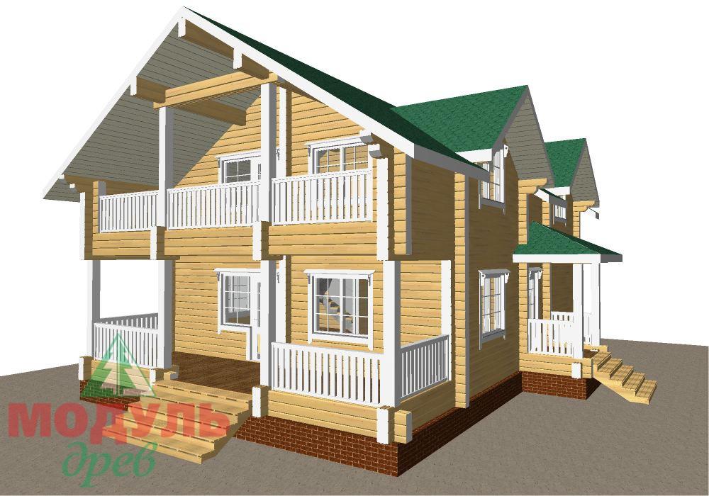 Брусовой дом «Енисей» - макет 2