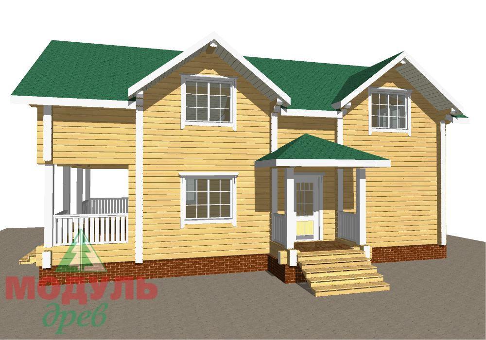 Брусовой дом «Енисей» - макет 3