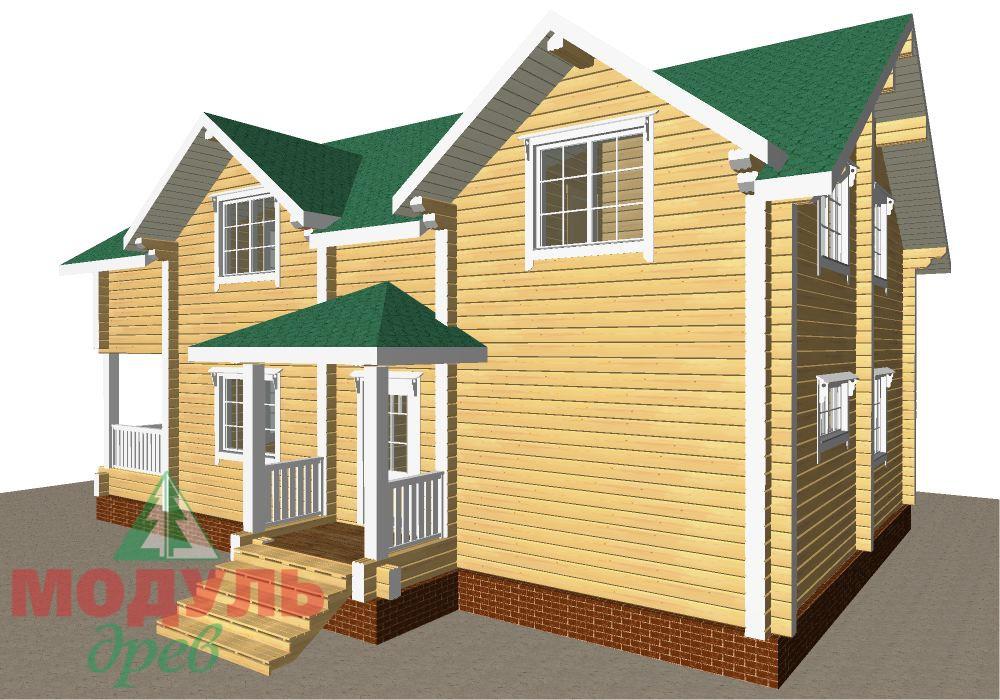 Брусовой дом «Енисей» - макет 4