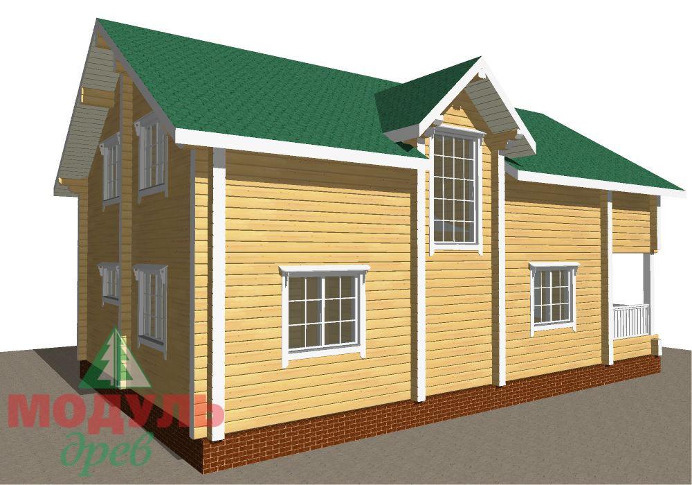 Брусовой дом «Енисей» - макет 6