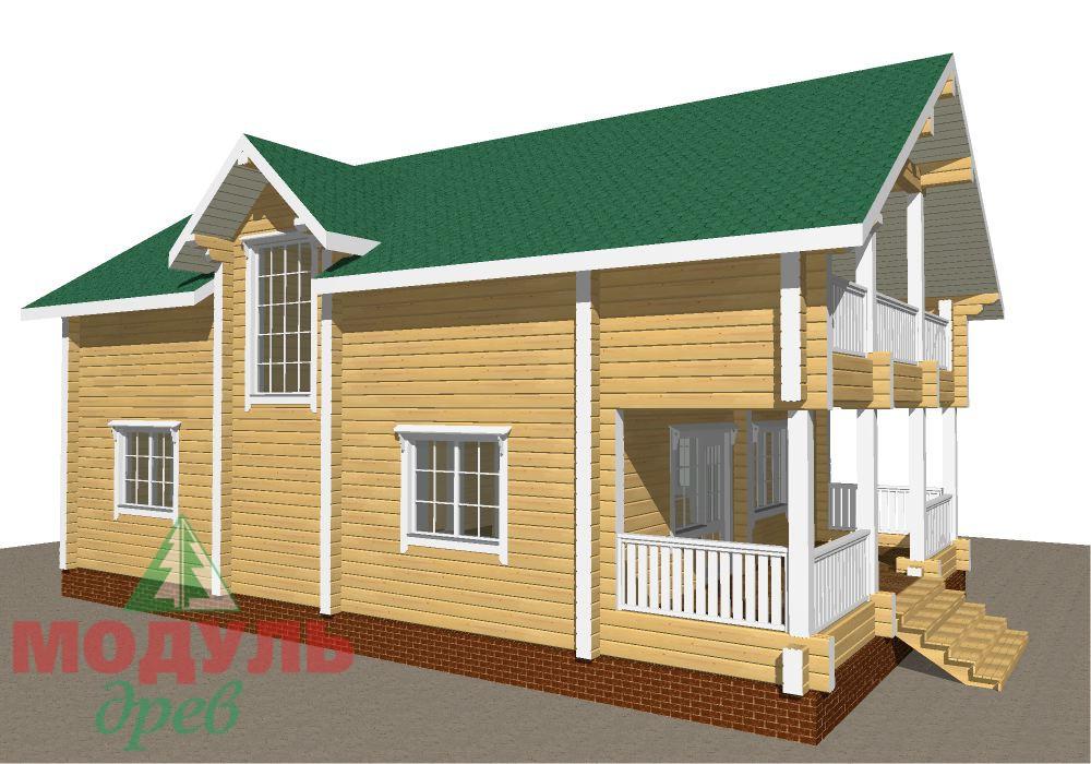 Брусовой дом «Енисей» - макет 7