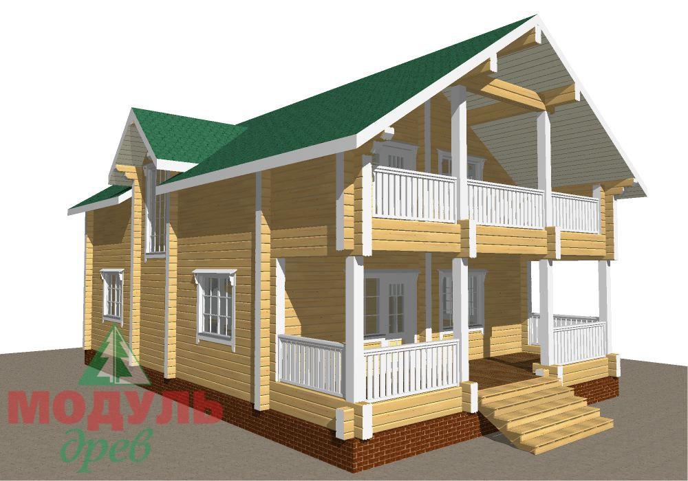 Брусовой дом «Енисей» - макет 8
