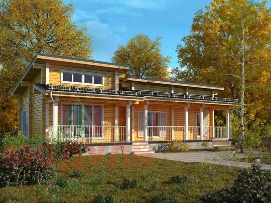Проект дома из бруса «Феодосия»