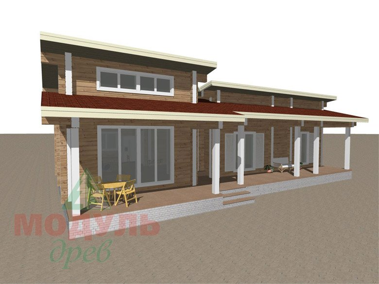 Дом из бруса «Феодосия» - макет 1