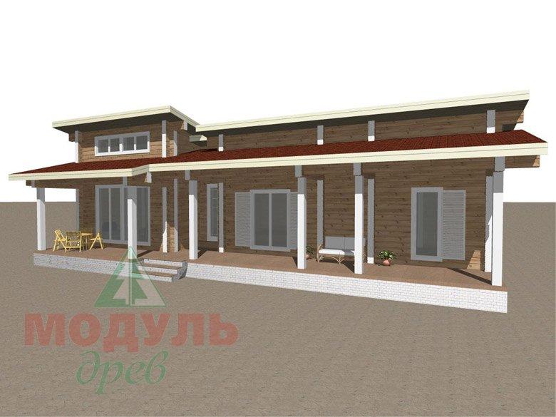 Дом из бруса «Феодосия» - макет 2