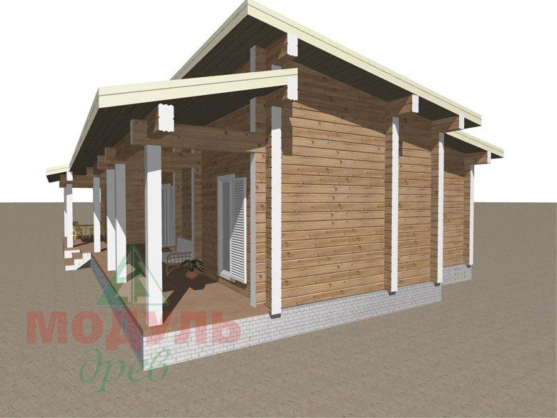 Дом из бруса «Феодосия» - макет 3