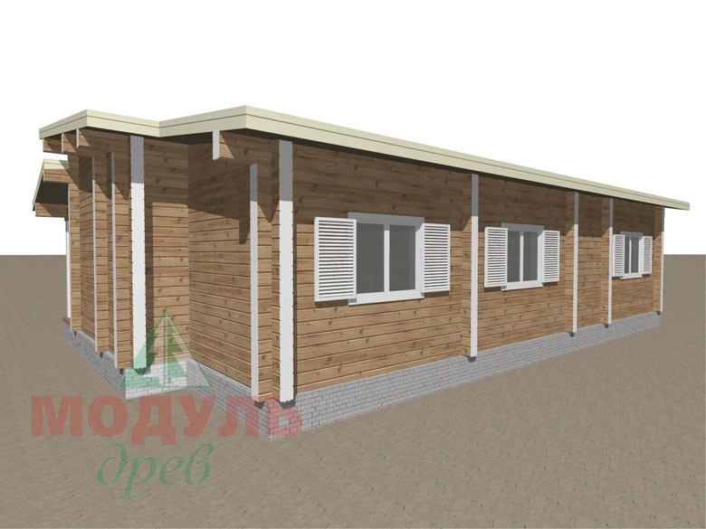 Дом из бруса «Феодосия» - макет 4
