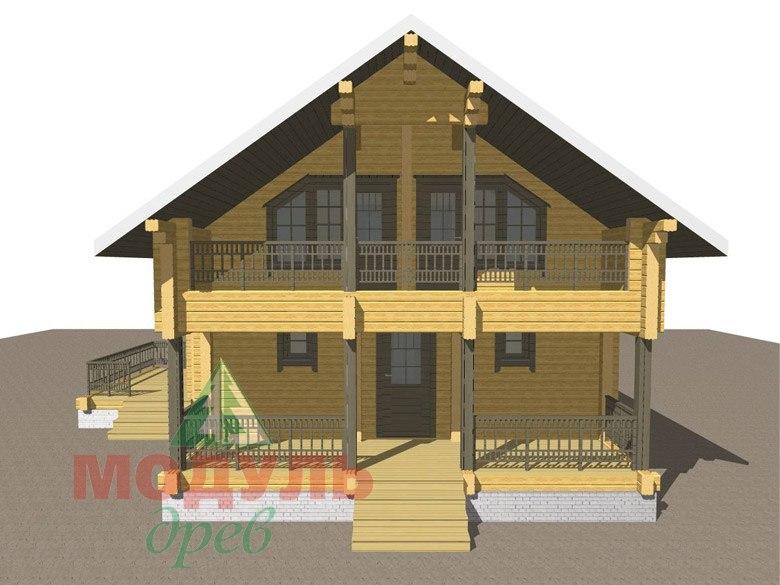 Двухэтажный дом из бруса «Галич» - макет 2