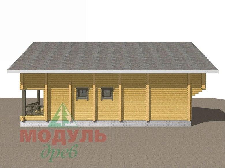 Двухэтажный дом из бруса «Галич» - макет 4