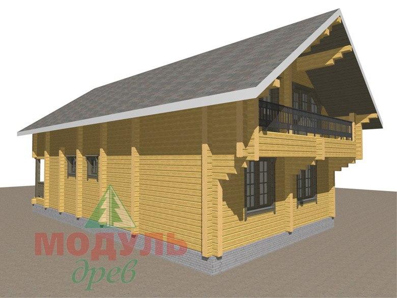 Двухэтажный дом из бруса «Галич» - макет 5