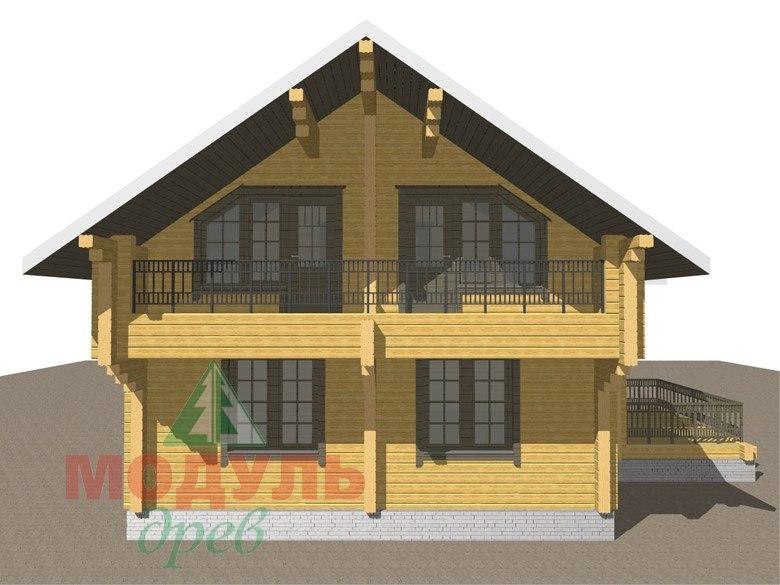 Двухэтажный дом из бруса «Галич» - макет 6