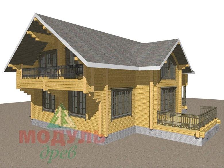Двухэтажный дом из бруса «Галич» - макет 7