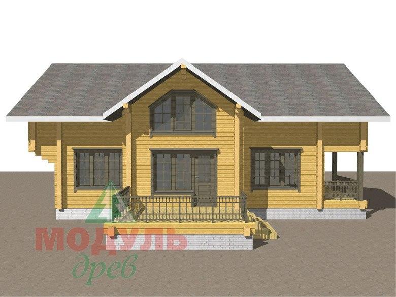 Двухэтажный дом из бруса «Галич» - макет 8