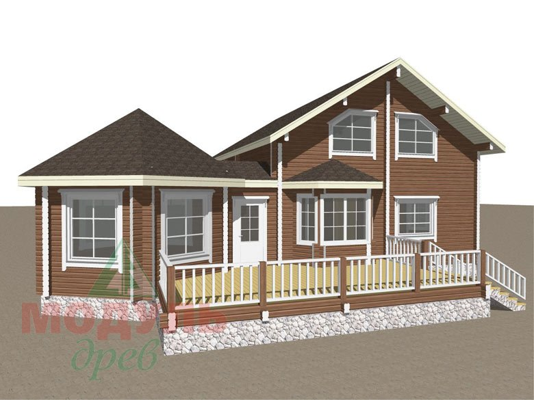 Проект дома из бруса «Глория» - макет 1