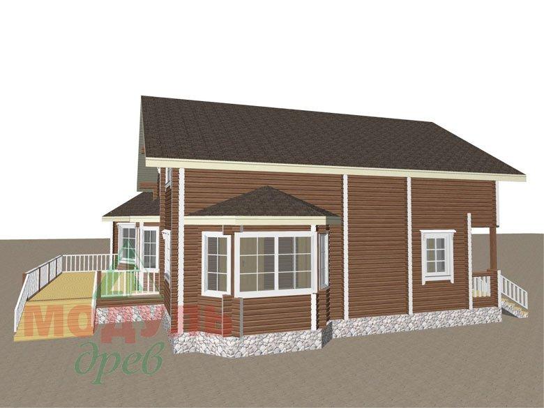 Дом из бруса «Глория» - макет 3