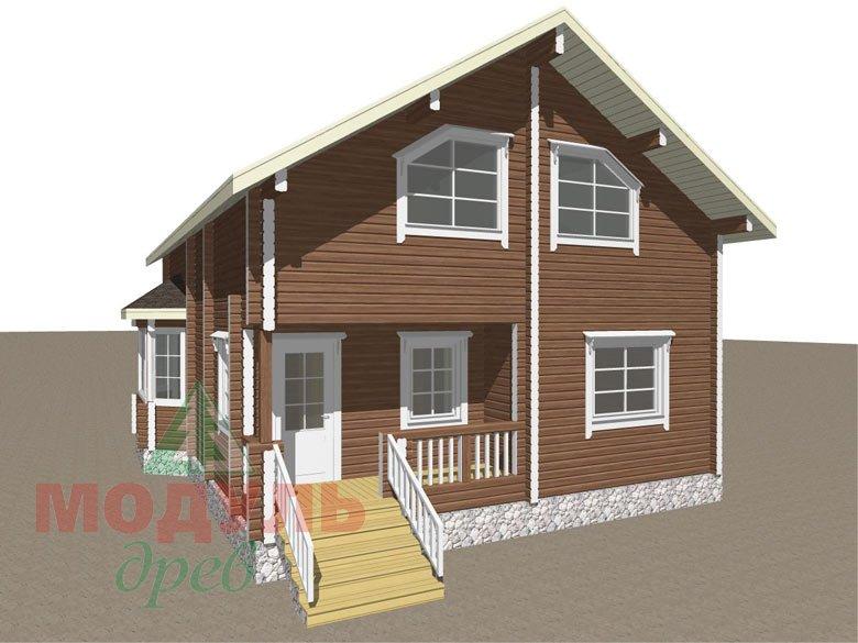 Дом из бруса «Глория» - макет 5