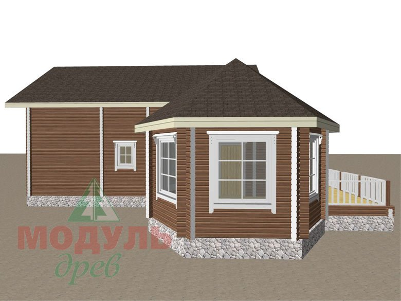 Дом из бруса «Глория» - макет 8